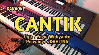 Cantik - Kahitna | KARAOKE Lower Key
