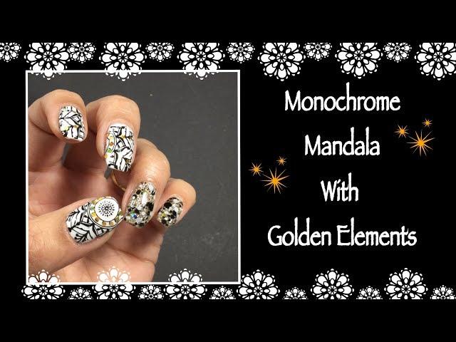 Monochrome Mandala Nail Art || Clear Jelly Stamper