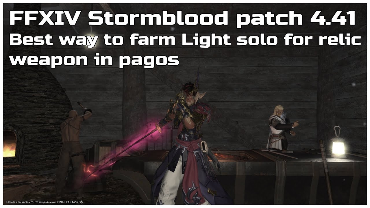 FFXIV Stormblood patch 4 41 Best way to farm Light solo for relic weapon in  pagos