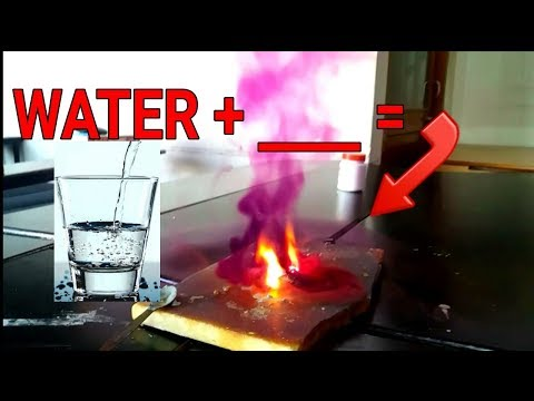 This happened when we reacted this with water.  Beautiful Chemical Reaction   The Quantum Academy 