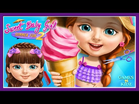 Thumbnail: Fun Baby Girl Care - Girls Play Hair Salon, Dress Up, Makeover - Sweet Baby Girl Summer Fun 2