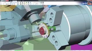 SprutCAM токарно-фрезерная обработка на станке Takamaz XY 120