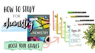 HOW TO STUDY FOR CHEMISTRY! (IB CHEMISTRY HL) *GET CONSISTENT GRADES*   studycollab: Alicia