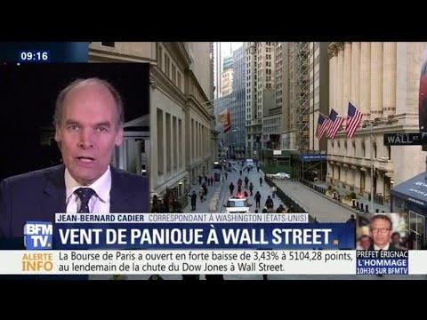 Comment expliquer la forte chute de la bourse de Wall Street