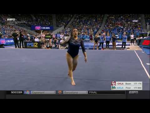 Felicia Hano (UCLA) 2018 Floor vs Oklahoma 10.0