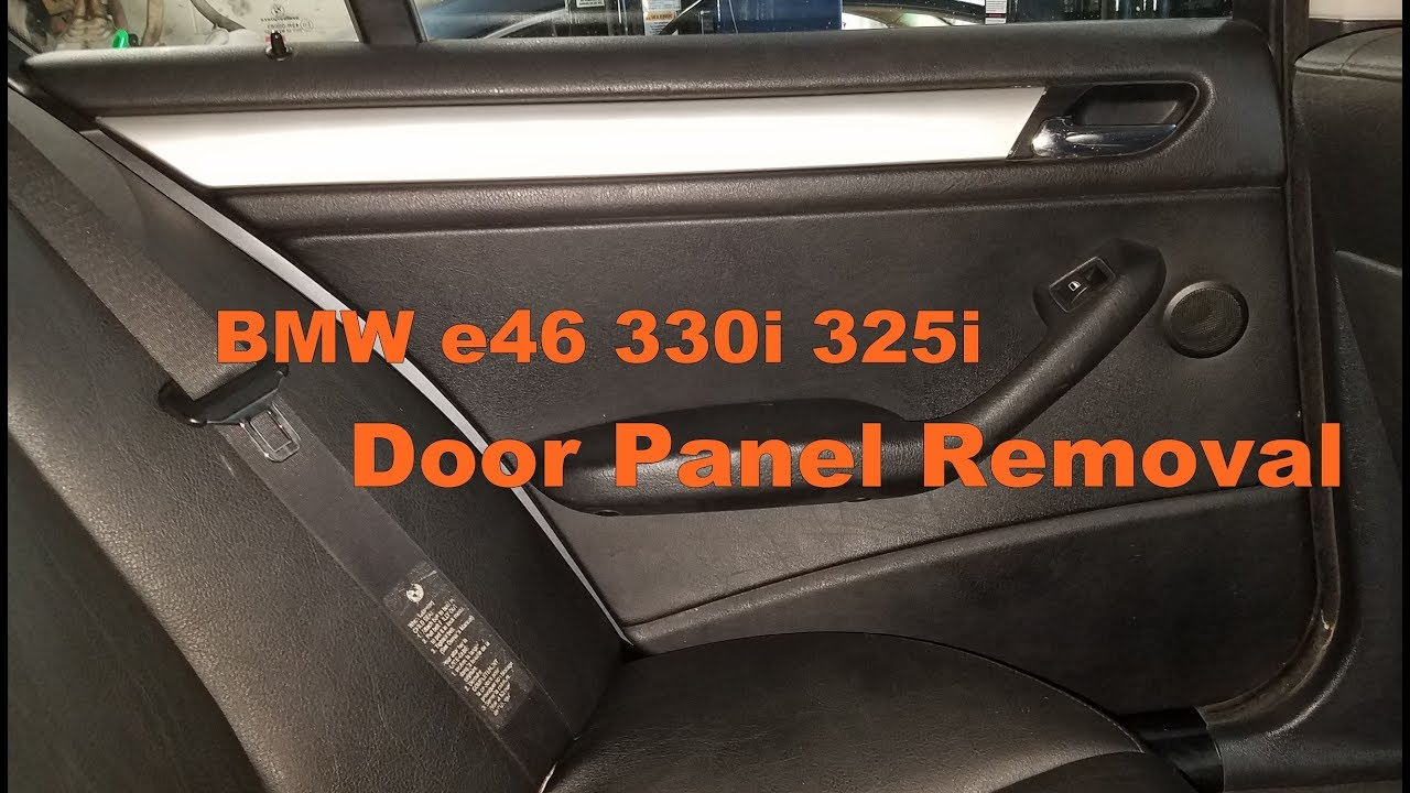 Bmw e46 330i 323i 325i sedan door panel removal doovi for 2002 bmw 325i window regulator