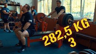 Жим лежа 282,5 кг на 3 повторения