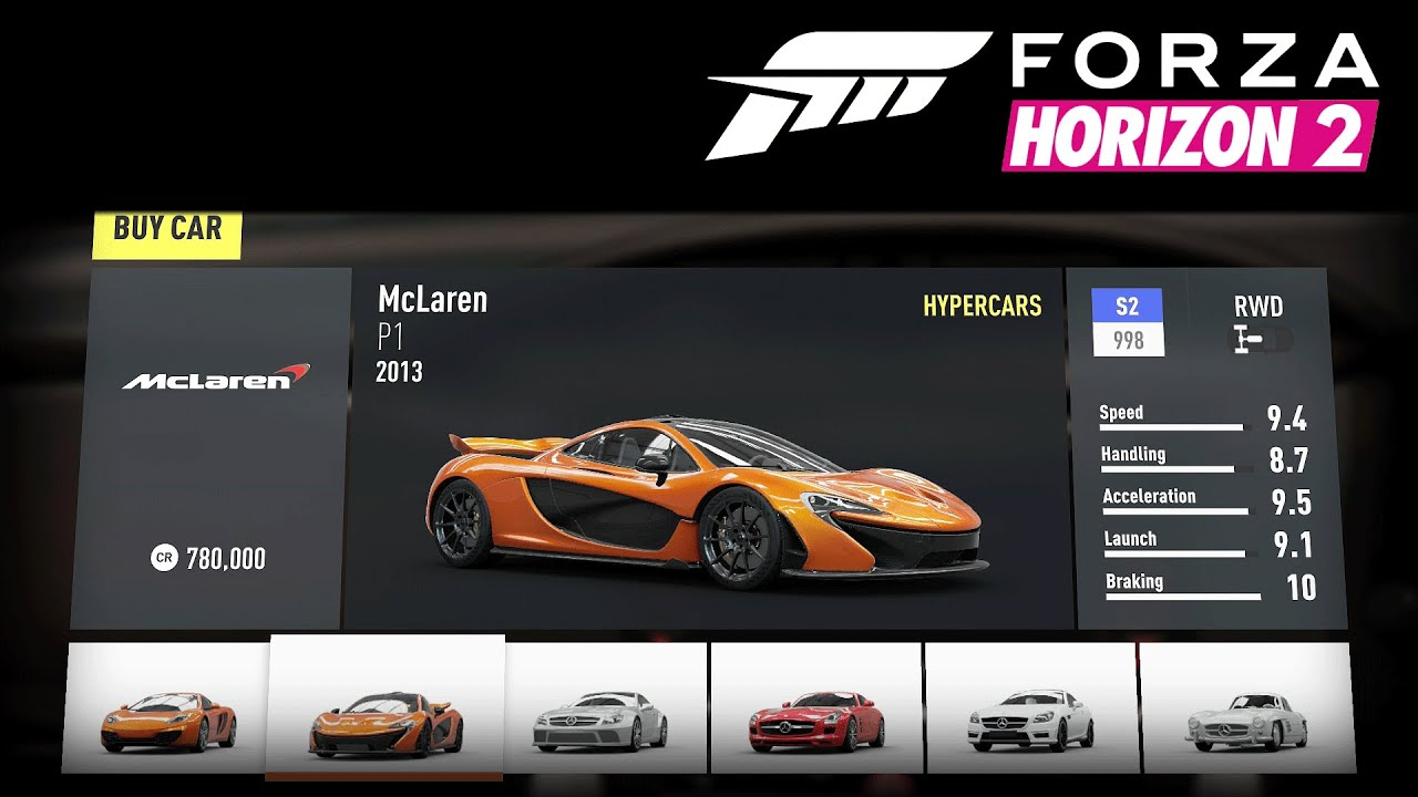 Forza Horizon 2 All Cars W Stats Retail No Dlc No Bonus