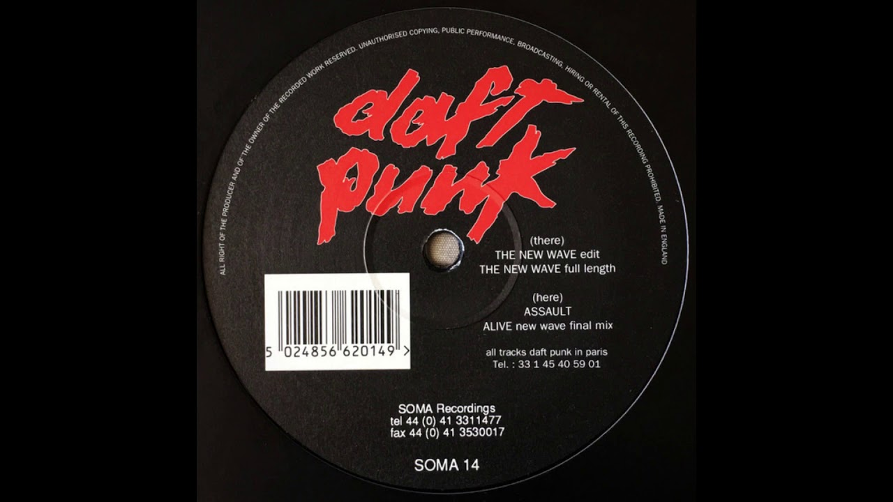 Daft Punk - The New Wave (Face A & B) [Full EP Vinyl 1994] - YouTube