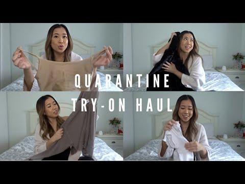 Quarantine TRY-ON HAUL Ft. Aritzia, H&M + Garage | Nicole Carino