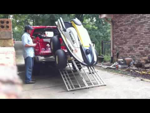 homemade jetski lift and tote youtube. Black Bedroom Furniture Sets. Home Design Ideas