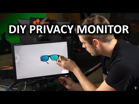 DIY Privacy Display - Recycle your monitors in a badass way