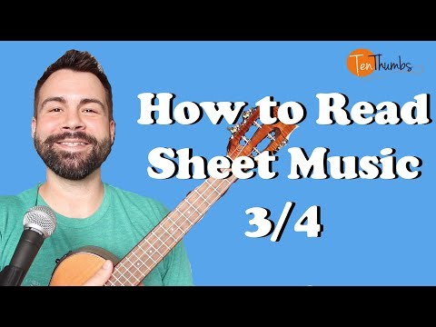 How to read sheet music for Ukulele Players - 3/4 Ukulele Tutorial thumbnail