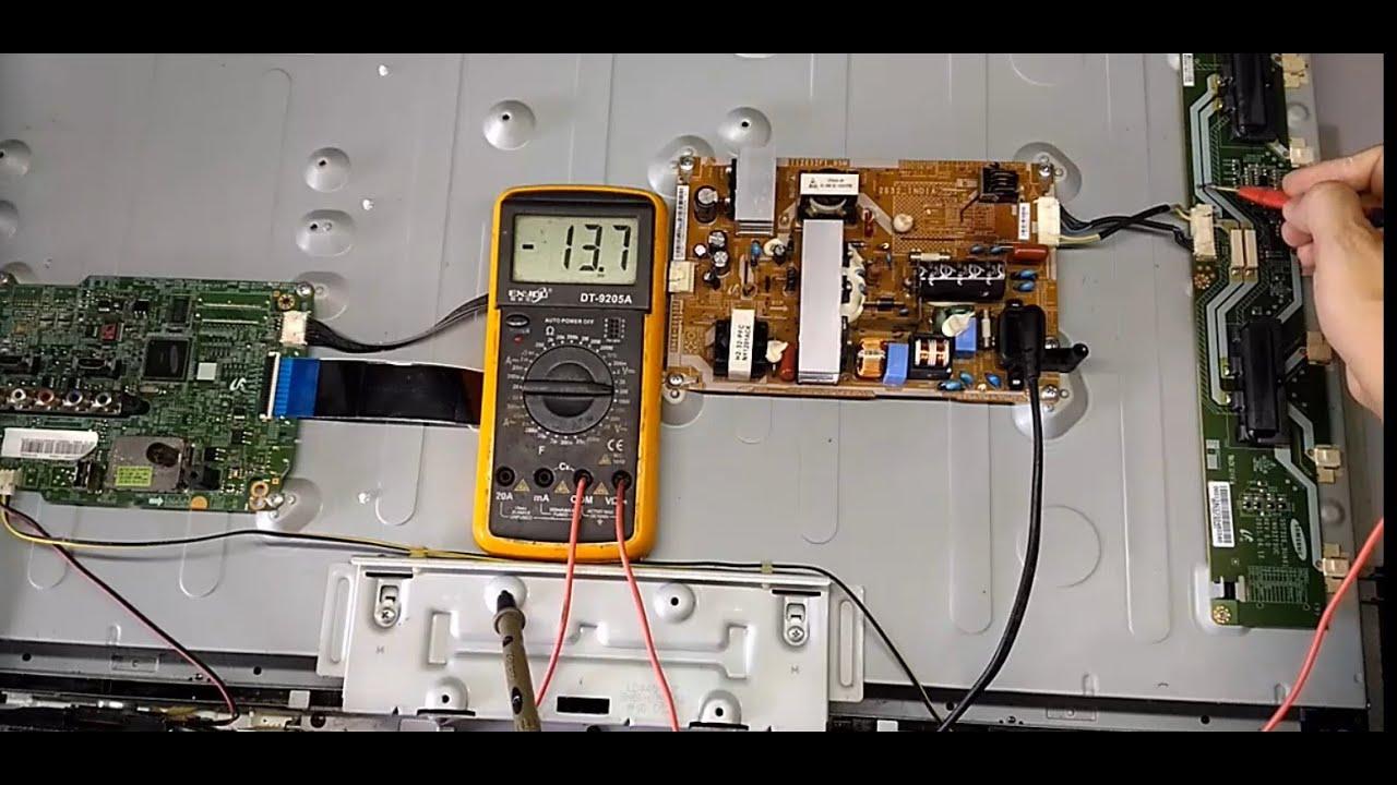 Sửa tivi LCD samsung có tiếng không hình