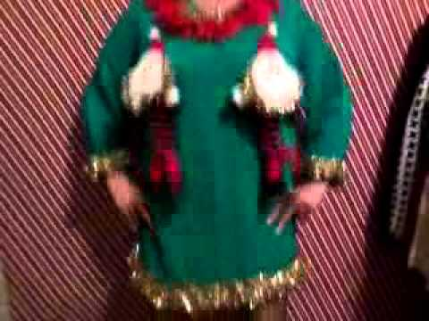 Girl In Naughty Ugly Christmas Sweater Dancing Boobs For Party