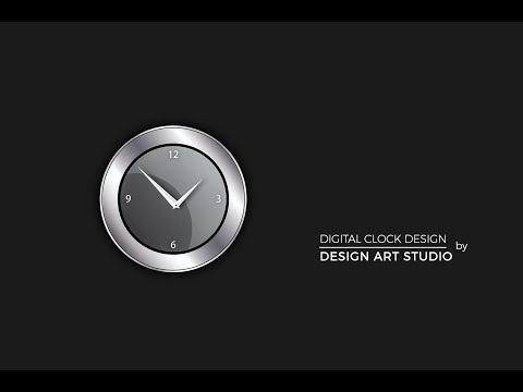 Illustrator Tutorial - 3D - Logo - Graphic  Design ( CLOCK )
