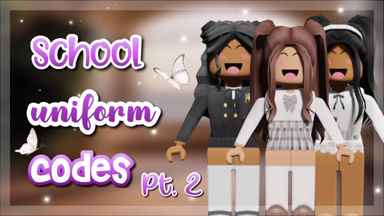 cute school uniforms / school girl outfit codes for bloxburg and rhs *PART  TWO*  roblox ♡