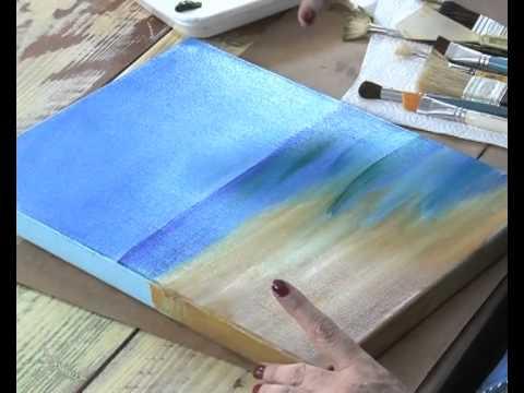 Patinas decoupage y pintar un paisaje claudia kunze y for Pintura para decoupage
