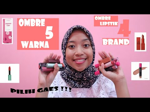 tutorial-ombre-lipstik-dari-5-warna-lip-cream-&-lipstik-(review-emina-creamy-tint)