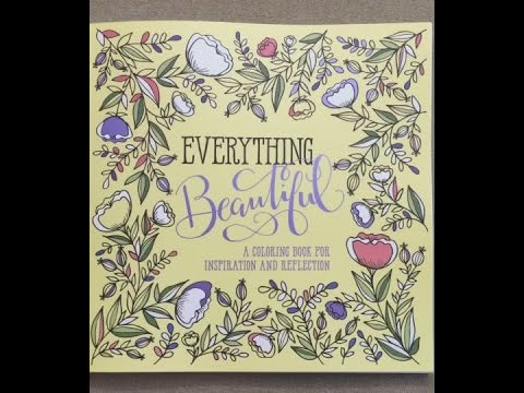 Everything Beautiful: A Coloring Book for Reflection and Inspiration flip through