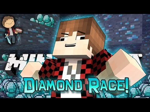 Minecraft: Race For Diamonds! How To Find Diamonds & Lava Tower PVP Mini-Game!