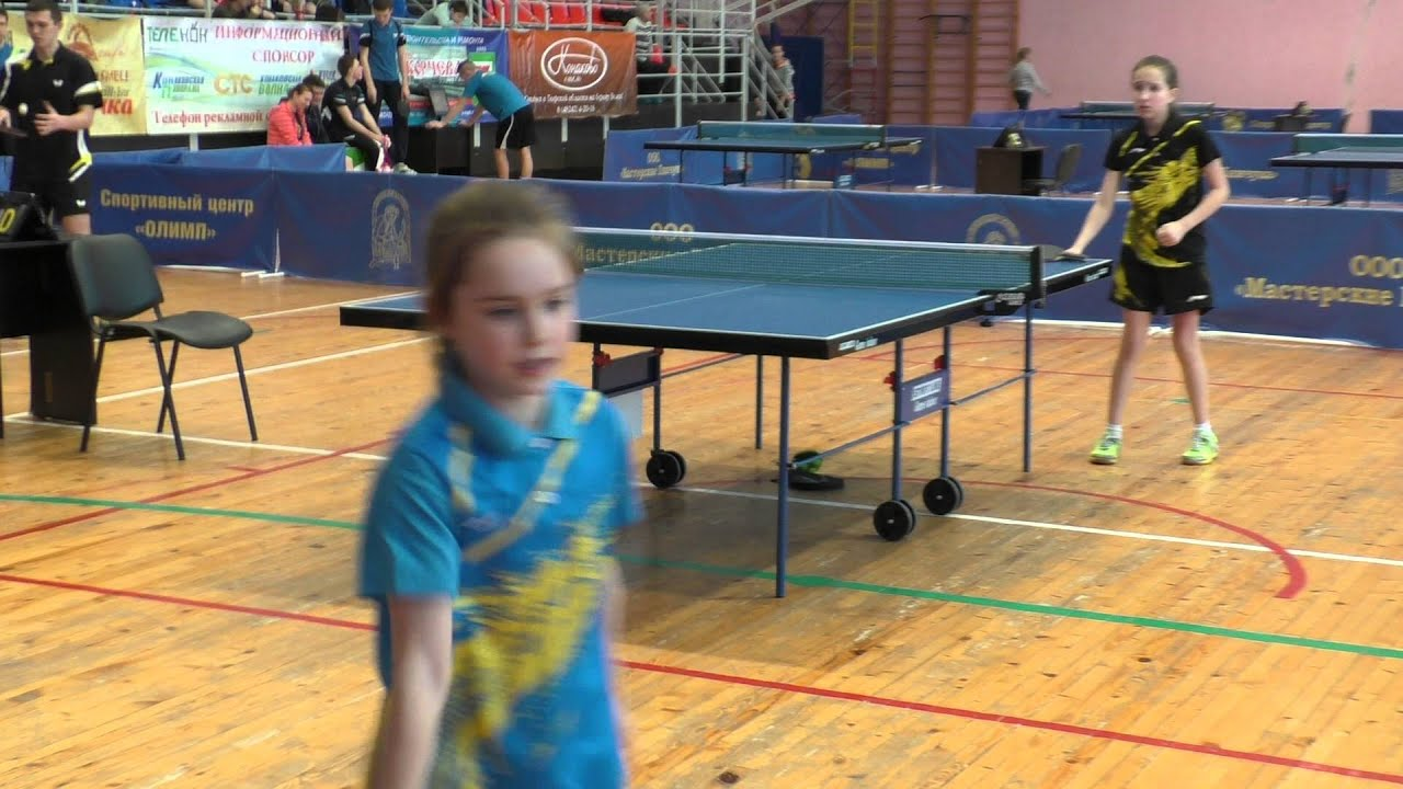 Таисия ЗЛОТНИКОВА - Александра БАЛК Конаковская весна Table Tennis Настольный теннис