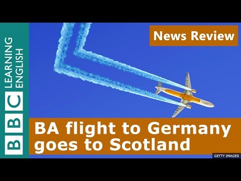 BA Flight To Germany Goes To Scotland - BBC News Review