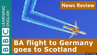 BA Flight To Germany Goes To Scotland   BBC News Review