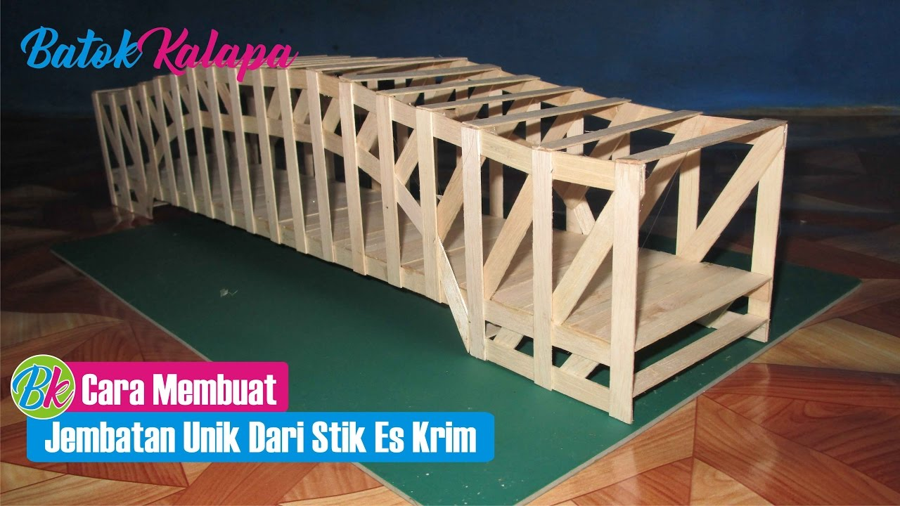 Kumpulan Teks Gambar Sketsa Jembatan Dari Stik Es Krim