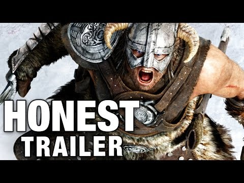 ELDER SCROLLS SKYRIM Honest Game Trailers Poster