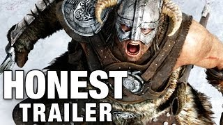 ELDER SCROLLS: SKYRIM (Honest Game Trailers)(Join us every other Saturday for more Honest Game Trailers! Subscribe to Smosh Games: http://smo.sh/SubscribeSmoshGames From the developers of ..., 2014-05-03T18:00:01.000Z)