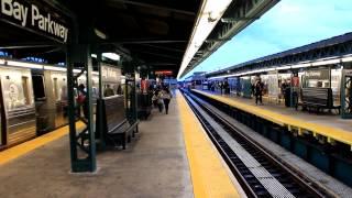 IND Subway: Coney Island & Manhattan Bound R68 (D) train at Bay Parkway