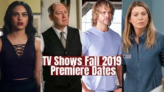 Fall 2019 Returning TV Shows Premiere Dates