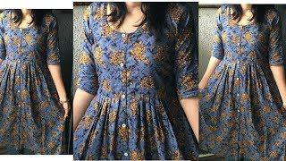 DIY Front Open Kurti Cutting and Stitching/ Front Button Placket Kurti cutting and stitching