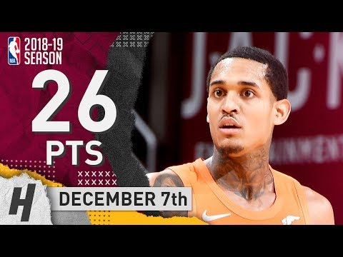 Jordan Clarkson Full Highlights Cavaliers vs Kings 2018.12.07 - 26 Pts, 4 Rebounds!