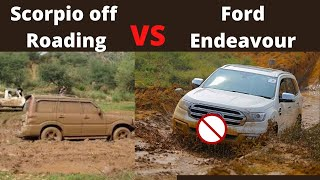 Mahindra Scorpio vs Ford Endeavour in OFF Road Track | Endeavour 4X4 Bs6