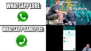 Whatsapp Lore VS Whatsapp Gameplay...