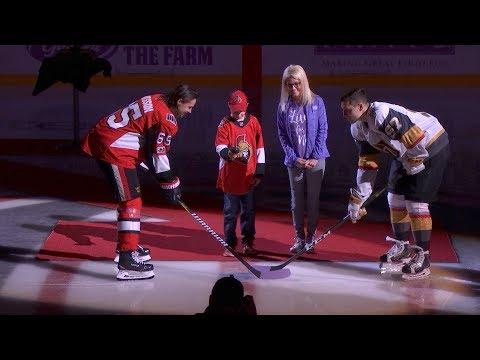 Nov 4: Hockey Fights Cancer Ceremonial Puck Drop