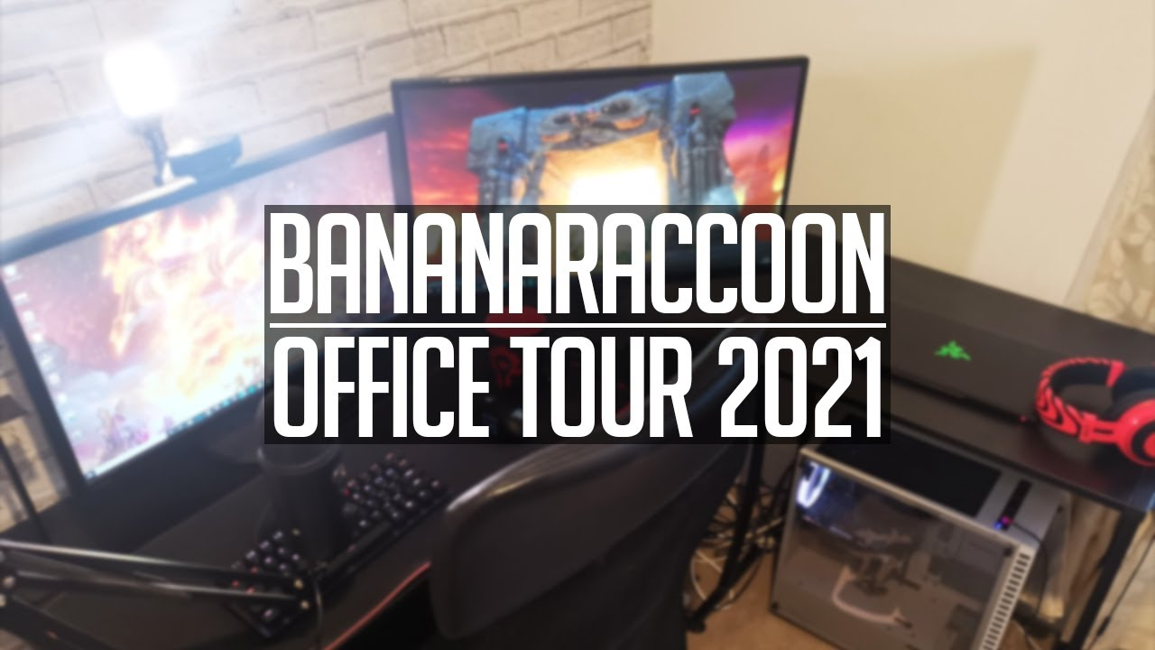 PC Setup and Office Tour 2021 and I'M GETTING MARRIED (BananaRaccoon)