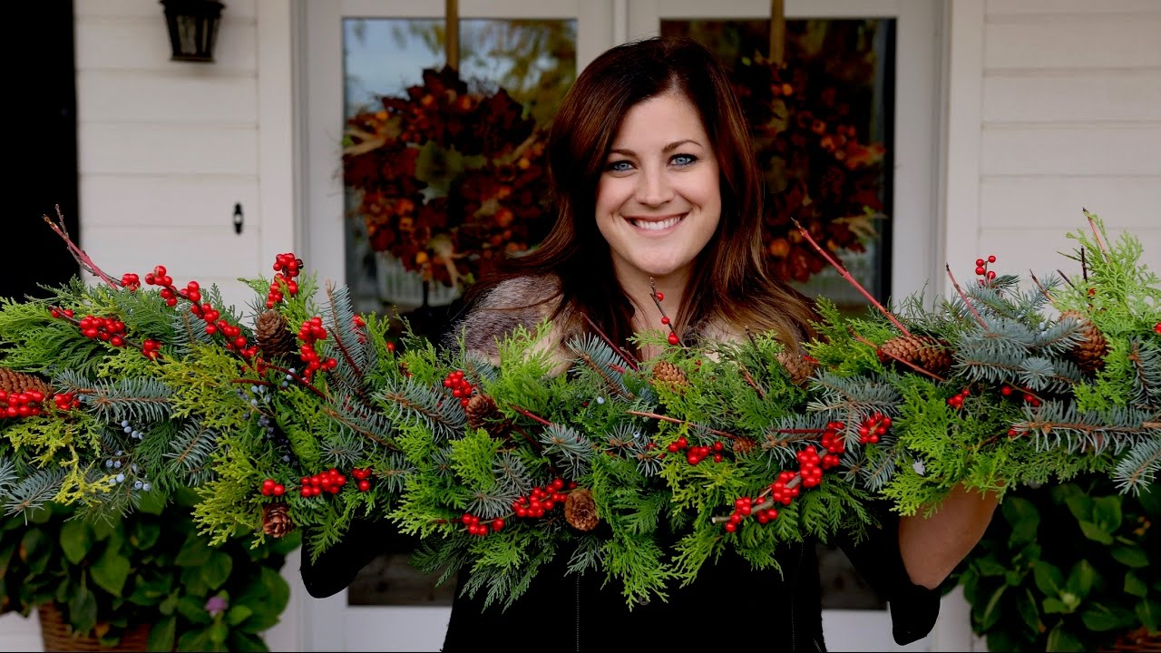 christmas garland ideas how to make a garland version garden answer 29966