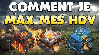 Clash of Clans - COMMENT JE MAX MES HDV - MEILLEUR FARM HDV10-11-12