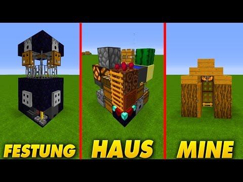 Minecraft Spielen Deutsch Minecraft Redstone Huser Bild - Minecraft 3 kleine hauser
