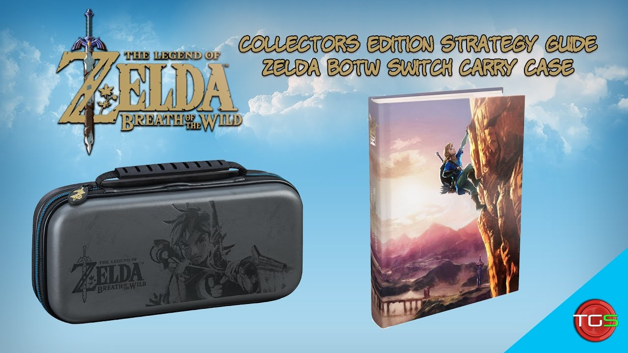 Zelda strategy guide nintendo switch case youtube for Housse zelda nintendo switch