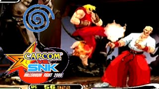 Capcom Vs. SNK: Millenium Fight 2000 playthrough (Dreamcast)