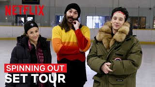 JVN Skates Through the Set of Spinning Out | BTS Set Tour | Netflix