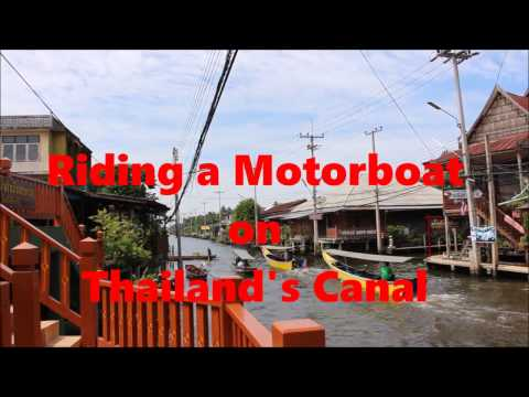 Riding Motorboat on Thailand's Canal