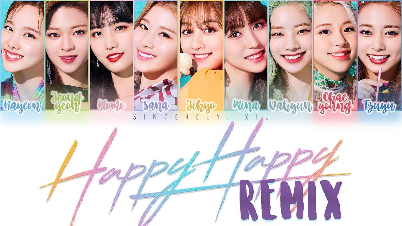 Twice Happy Happy Collapsedone Remix Color Coded Lyrics