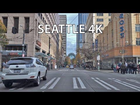 Driving Downtown - Seattle Washington USA