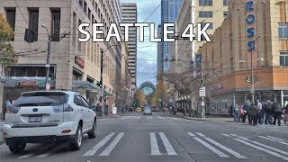 Driving Downtown - Seattle Washington USA