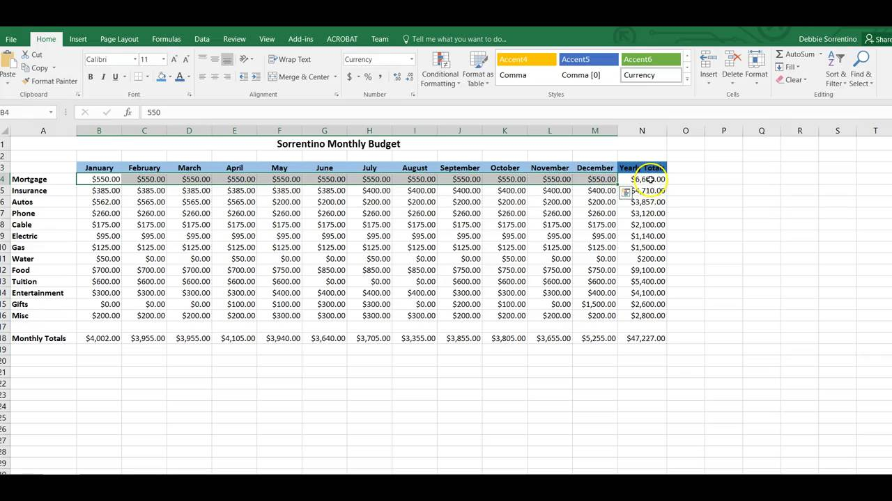 Excel Project 1 Instructions